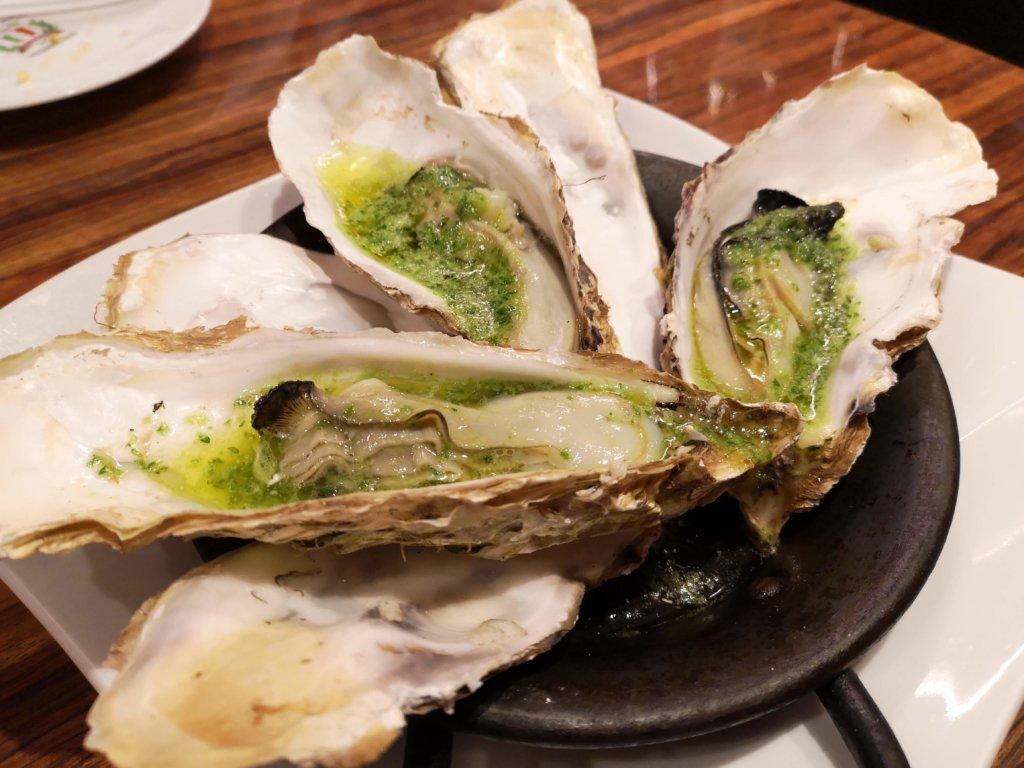 金のイタリアン牡蠣ガーリックバター